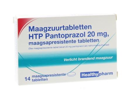 Healthypharm Pantoprazol 20mg 14st