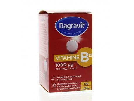 Dagravit Totaal Vitamin B12 1000 mcg melt tablet 100tab
