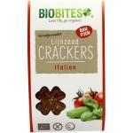 Biobites Raw food lijnzaad cracker Italian 2st