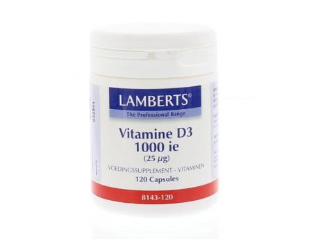 Lamberts Vitamine D 1000 IU NZVT 120cap