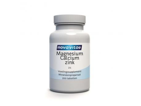 Nova Vitae Magnesium calcium 2:1 zinc D3 200tab
