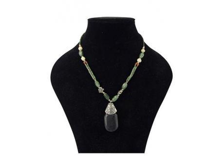 Bohemian ketting jade & hanger