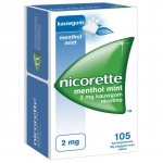 Nicorette Kauwgom 2 mg menthol mint 105st