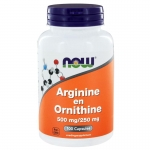 NOW Arginine and Ornithine 100cap