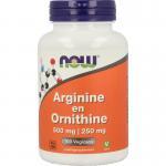 NOW Arginine en Ornithine 500/250 100cap