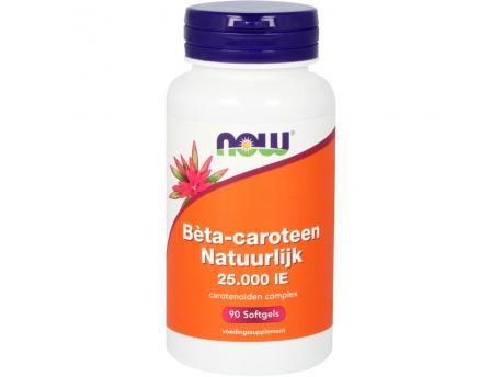 NOW Beta-caroteen Natuurlijk 90sft