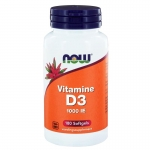 NOW Vitamine D3 1000IE 180sft