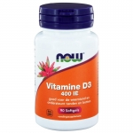 NOW vitamin D-3 400IE 90sft