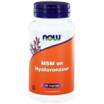 NOW MSM and Hyaluronic Acid 60vc