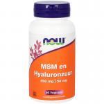 NOW MSM en Hyaluronzuur 60vc