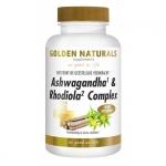 Golden Naturals Ashwaganda & rhodiola complex 60vc