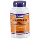 NOW L-Methionine 500 mg & Vit B6 100cap