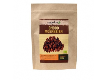Superfoodz Choco mulberries bio Raw 300g