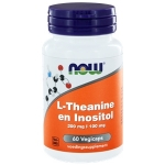 NOW L-Theanine and inositol 60vc