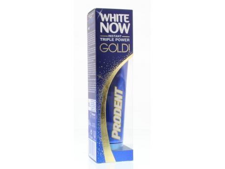 Tandpasta white now gold