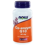 NOW CoQ10 60mg with Omega 3 60sft