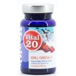 Vital20 Krill omega 3 500mg 60sft
