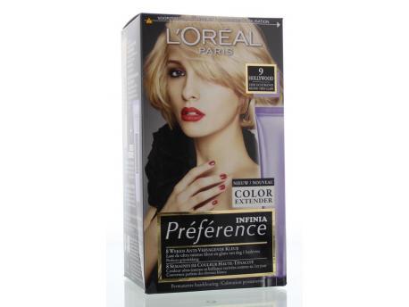 Loreal Recital preference 9 hollywood zeer licht blond verp.