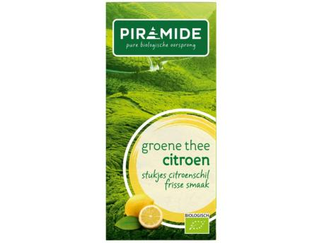 Groene thee met citroen eko