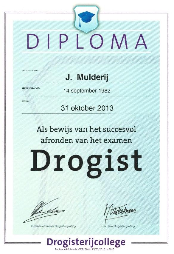 Digitale diploma J. Mulderij