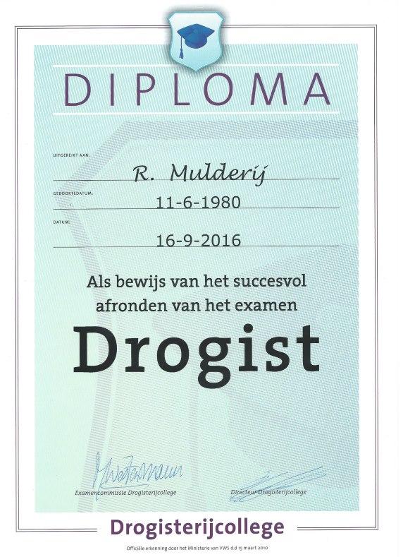 Digitale diploma R. Mulderij