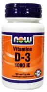 NOW Vitamine D3 1000 90sft