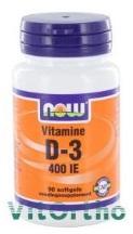NOW Vitamine D-3 400 90sft